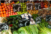 Vegetables in produce section