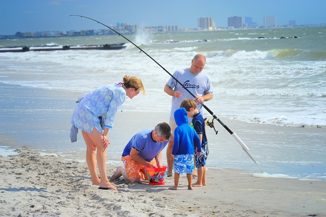 Fishing family