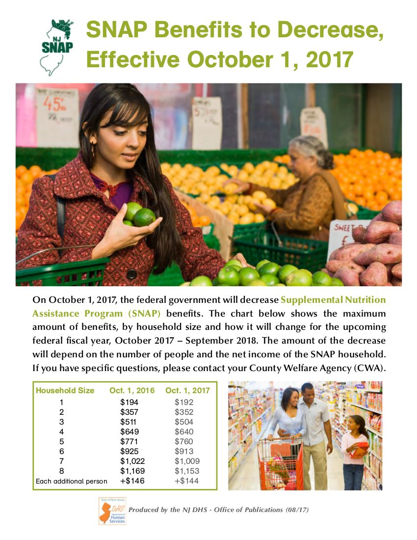 SNAP benefits reduction flyer 8-29-17