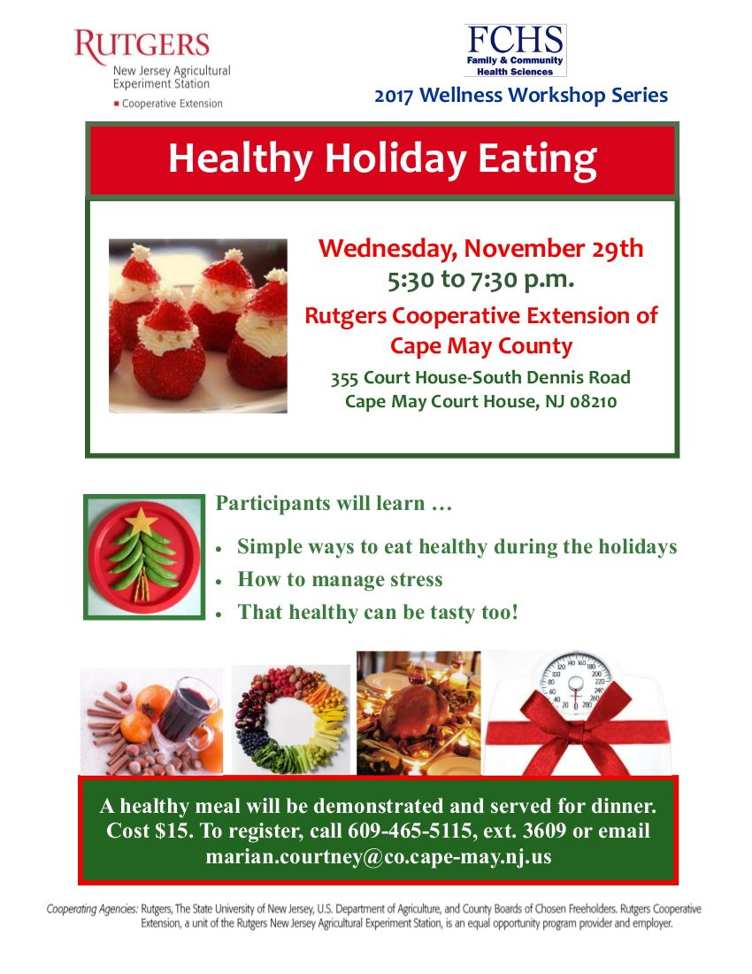 FCHS Nov 29 Healthy Holiday EatingA