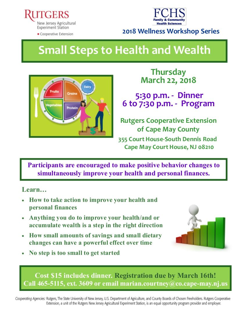 FCHS  Small Steps to Health and Wealth March 22 Flyer