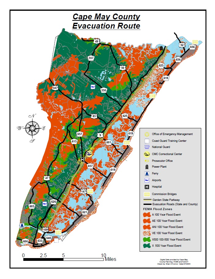 Evacuation Routes | Cape May County, NJ - Official Website on
