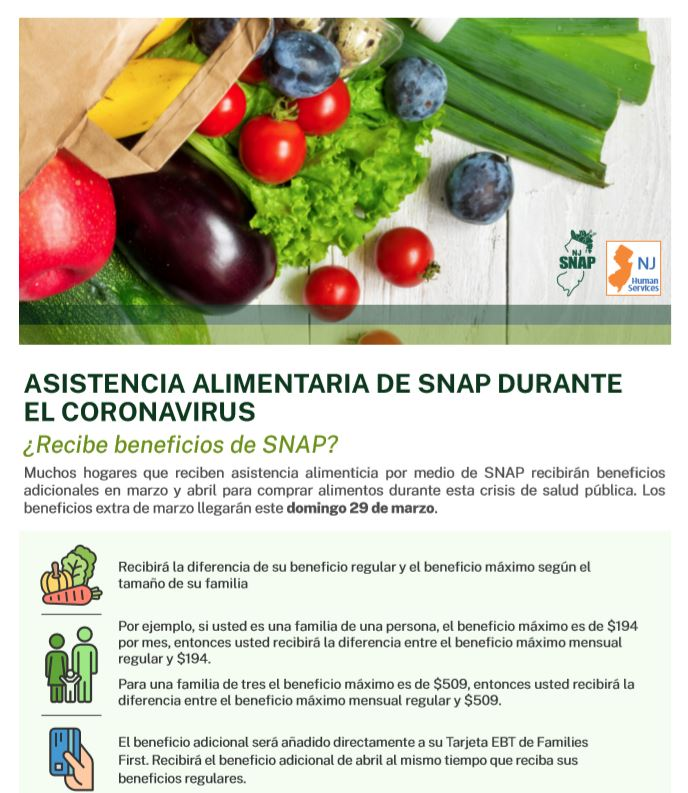 Snap Benefits Spanish Flyer