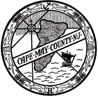 Cape May County Seal in Black and White