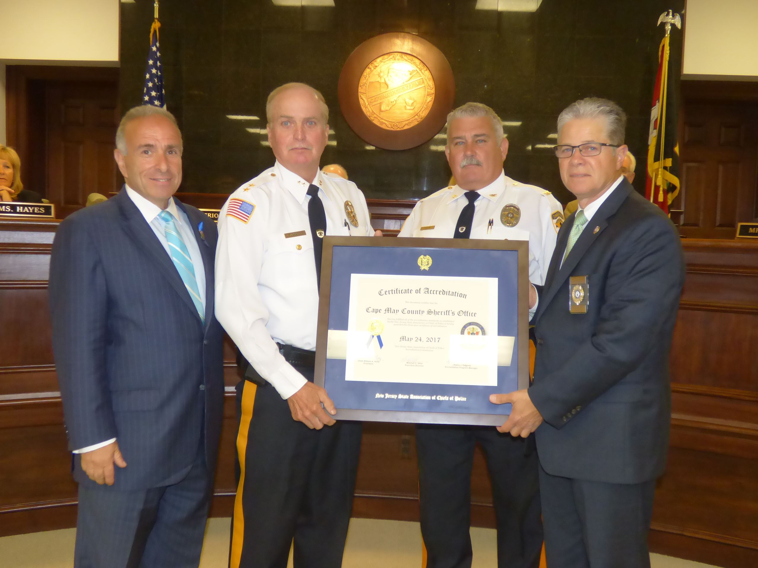 Photo: Sheriff's Office Receives Re-Accreditation Certificate 1