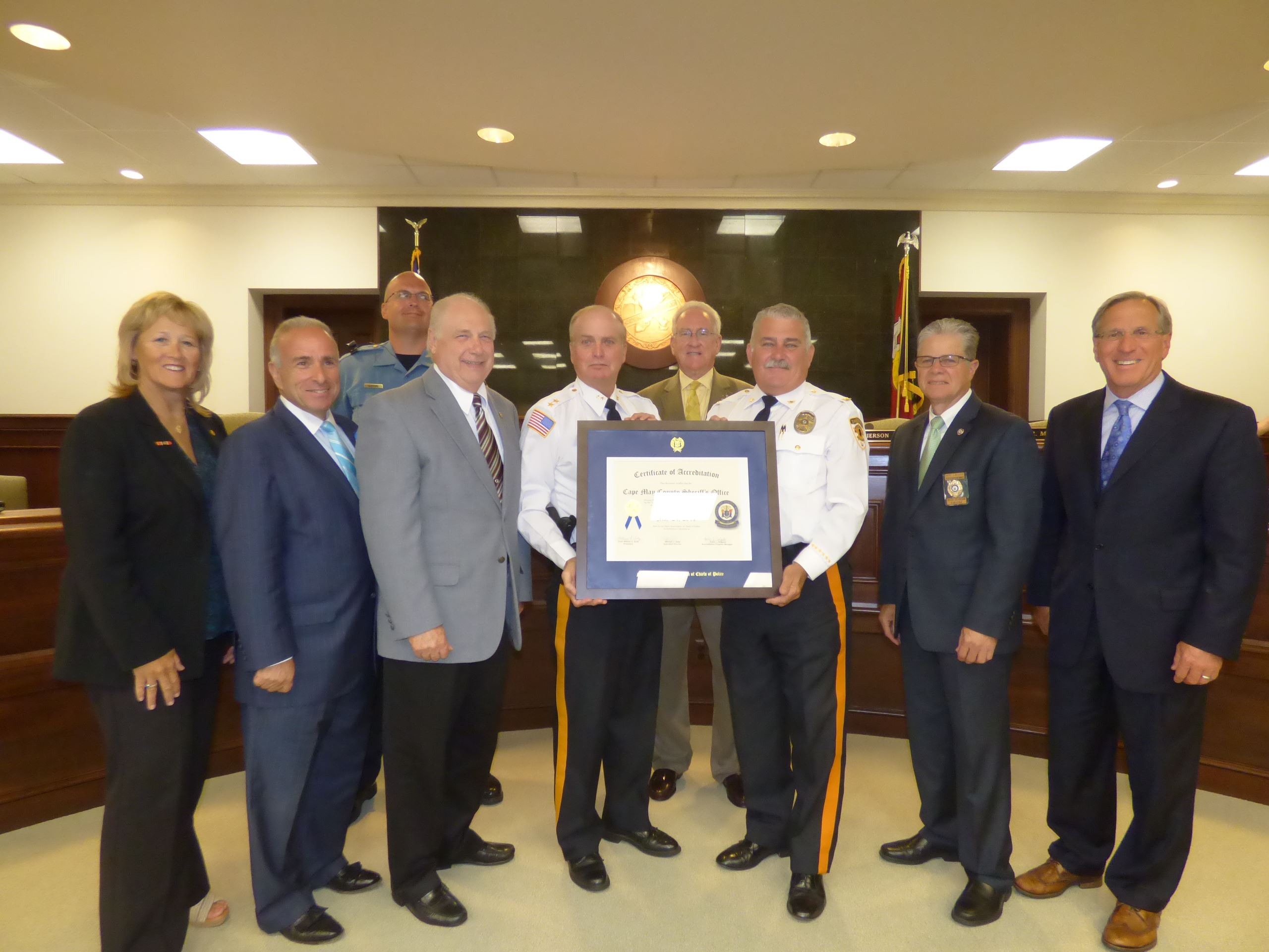 Photo: Sheriff's Office Receives Re-Accreditation Certificate 2