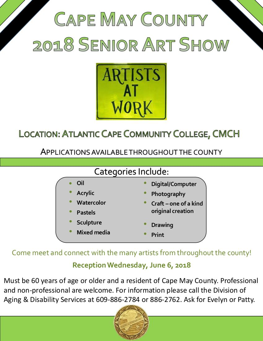 2018 Senior Art Show Flyer