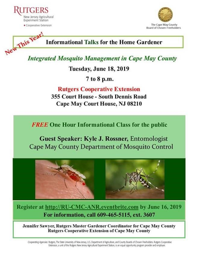 Rutgers Home Gardener Talk Flyer