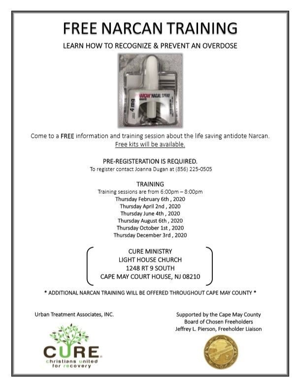 Free Narcan Training at the Lighthouse Church