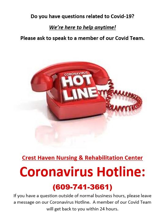 Coronavirus Hotline Crest Haven