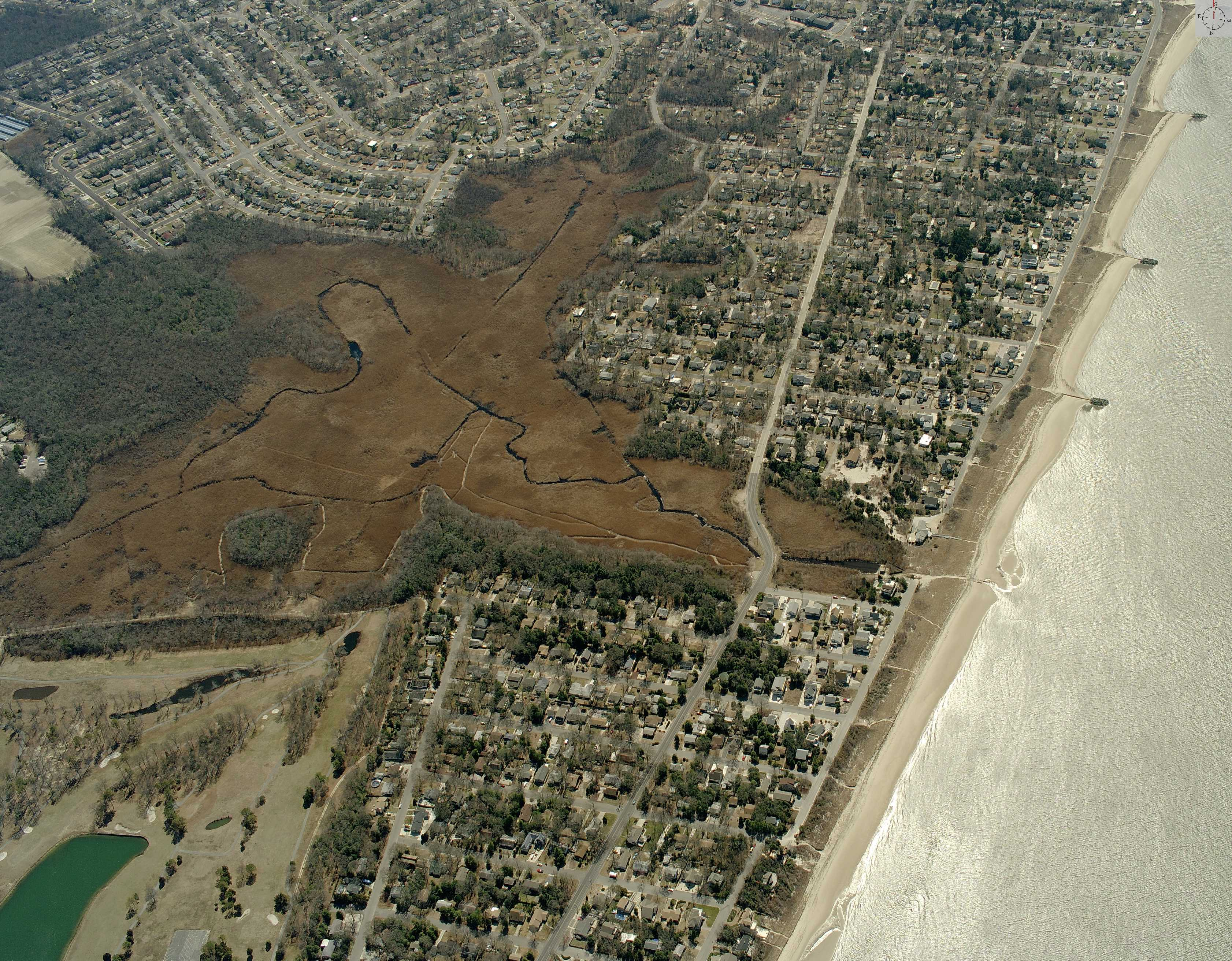 Arial Picture of Cox Hall Creek