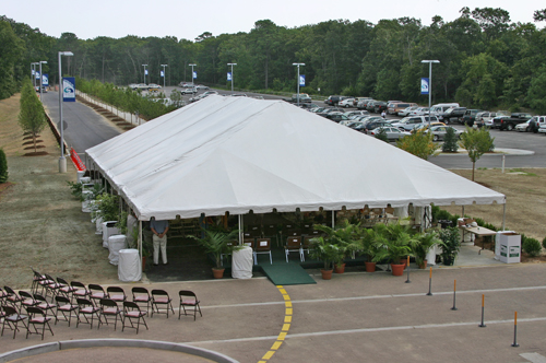 Tent Canopy Providing Shelter for the Ceremony