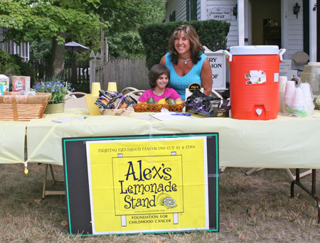 Alex's Lemonade Stand manned by Cynthia Kodytek raised more the $700 for the Foundation for Childhood Cancer