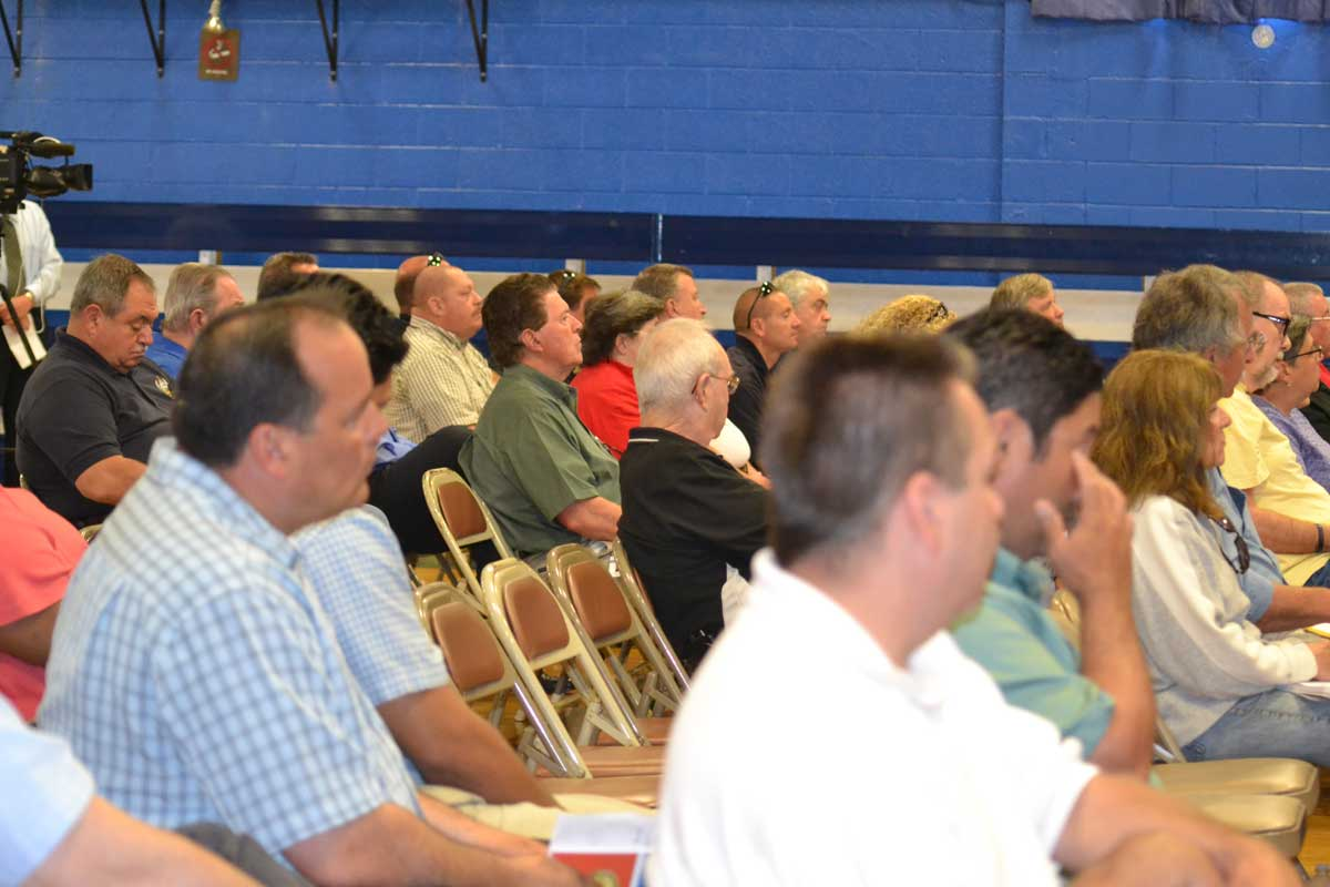 Attendees listen to the presentations on emergency planning