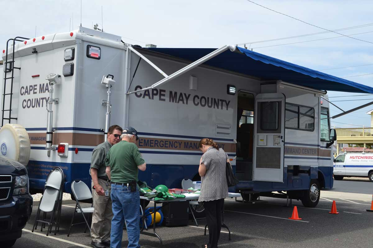 The Cape May County Emergency Management Van on display for tours and information at the conference