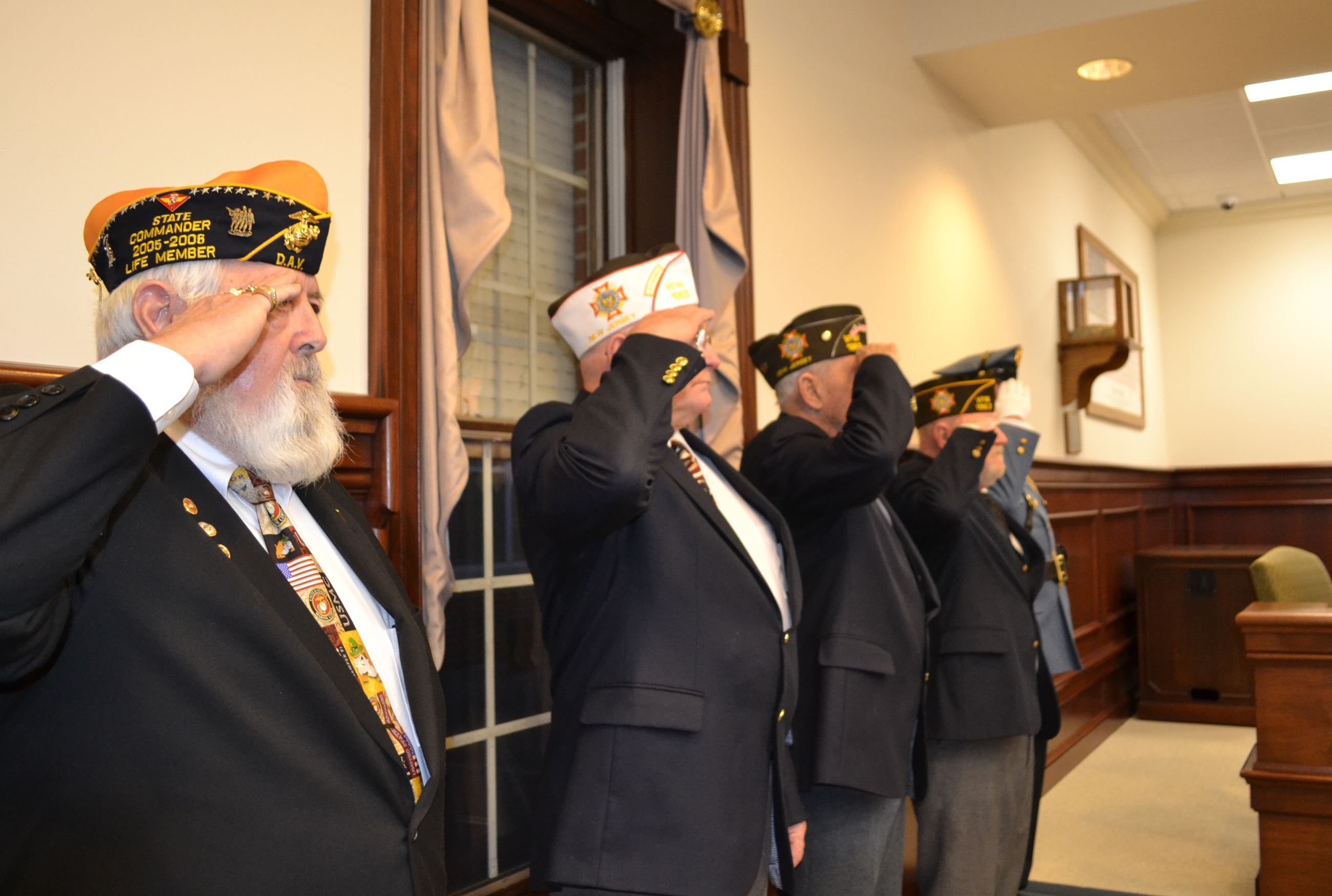 Veterans on hand for Reorganization
